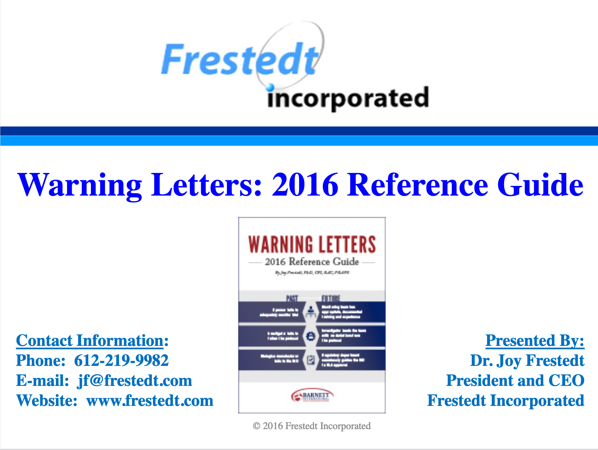 """""""Warning Letters: 2016 Reference Guide"""" talk flyer"""