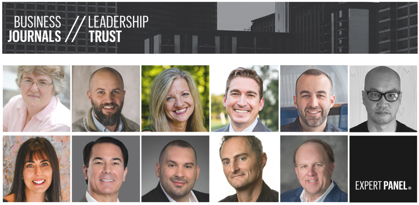 Business Journals Leadership Trust logo and headshots of Expert Panel authors