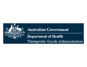 Australian Goverment Department of Health Theraputic Goods Administration logo